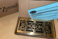 """Zoroufy 4""""x10"""" Duct Opening Polished Brass Floor Register/vent Cover 20267"""