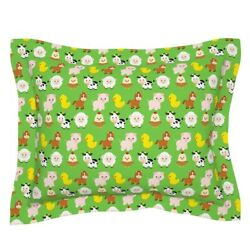 Farm Animals Baby Nursery Decor Cow Horses Chickens Pillow Sham By Roostery
