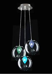 Chandelier Modern Design Glass Of Murano Made In Italy By Hand 3 Lights
