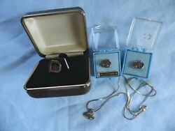 Great Western Taylor Winery 10k Neclace And 10k Three Tie Tack Pins Lot