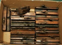 Mixed Lot Of Antique Wooden Molding Planes Hollow And Rounds Old Tools