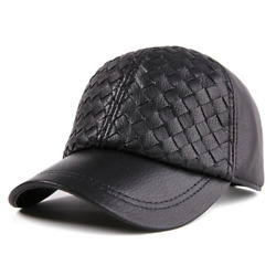 Akizon Adjustable Measurement Real Leather-based Hats For Males Ladies Winter Th