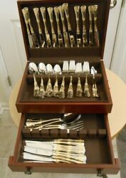 130 Piece Service For 24 Royal Albert Old Country Roses Gold Accent Flatware Set