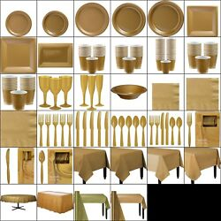Gold Party Table Wear Golden Wedding Anniversary Birthday Christmas Wholesale G