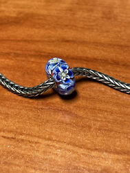 Authentic Trollbeads Ageless Beauty Le Bead Rare Htf Laa Stamped Bead New