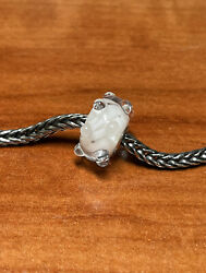 Authentic Trollbeads White Waters, Event, Exclusive Bead Htf Ship Free