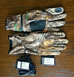 Seirus Menand039s Heattouch Hyperlite All Weather Gloves Large - Push Button Warmth