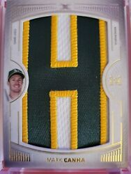 2021 Topps Definitive Baseball Mark Canha Nameplate Game Used Patch 1/1