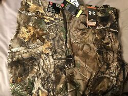 Under Armour Realtree Mens Hunting Hiking Pants Size 38x32 2 Pairs