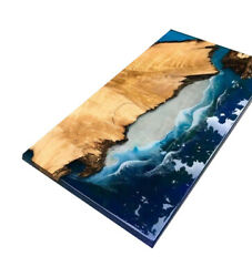 Custom Dining/coffee Waterfall Epoxy River Wooden Top Table Decors Made To Order