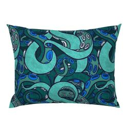 Tentacle Arms Suckers Sea Monster Ocean Coordinate Pillow Sham By Roostery