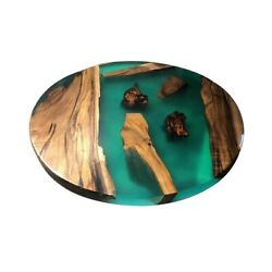 Beautiful Wooden Epoxy Center Coffee Table Top Handmade Furniture Made To Order