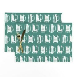 Cloth Placemats Beer Mugs Brewing Bar Mini Drunk Drink Set Of 2