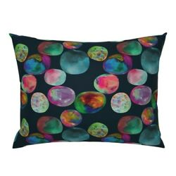 Watercolor Opals Precious Stones Crystals Rocks Pillow Sham By Roostery