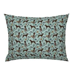 Hiking German Pointer Shorthair Pointer Dogs Mountains Pillow Sham By Roostery