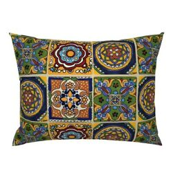Talavera Mexican Hand Towels Tea Towels Kitchen Pool Pillow Sham By Roostery
