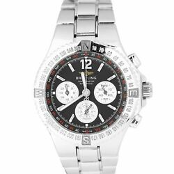 Breitling Hercules Chronograph Stainless Steel Black A39363 Steel 45mm Watch