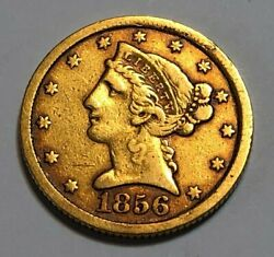 1856-c 5 Gold Liberty Head Half Eagle Coin Charlotte Mint Uncertified Coin