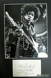 Jimi Hendrix New York 1970 Pop Festival Orig Sign Autograph Card And Photo