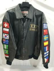 Vintage 1996 Atlanta Olympic Games Leather Jacket By American Toons Size L