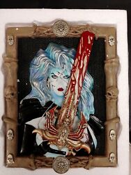 Brian Pulido Lady Death Porcelain Plaque/wall Relief 1183 Of 3000 Moore Creation