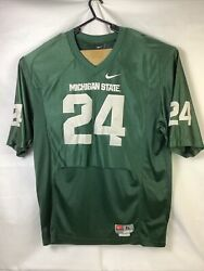 Nike Team Size Xl Michigan State Spartans Stitched 24 Green Football Jersey