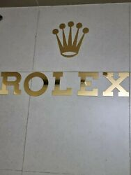 Rolex Brass Letters Dealer Display Sign Very Rare Big Letters And Rolex Crown