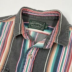 Vintage Polo Country M Southwest Blanket Twill Cotton Shirt