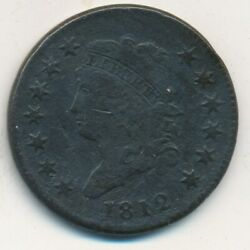 1812 Classic Head Large Cent-very Nice Circulated Cent-ships Free Invds
