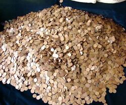 2 Pounds Of Unsearched Lincoln Wheat Pennies 1909-1958 Estate Sale