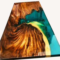 Custom Ocean Epoxy River Table Live Edge Epoxy Dining Table Decor Made To Order