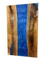 Sold Edge River Coffee Table Blue Epoxy Wood Table Home Deco Made To Order