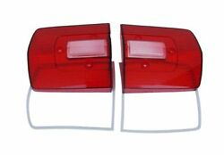 68 Roadrunner/gtx Tail Light Lenses Sold As A Pair - Oe Perfect