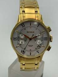 Polyot Buran 3133 Watch Mechanical Russian Gold Plated Stainless Steel