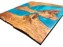 Wooden Epoxy Resin River Coffee Natural Wooden Hallway Decorate Made To Order