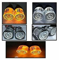 For Royal Enfield Crystal Handle Bar End Indicator Led Light Side Weights @ca