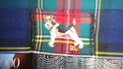 Preppy Polo Vintage Style Mask Face Covering Dog Shirt Blake Plaid