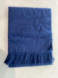 West Elm Cashmere Blend Throw Midnight Blue - 50x60 Solid Luxe