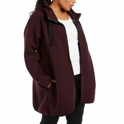 Calvin Klein Performance New Womenand039s Plus Size Hooded Track Jacket Top Tedo