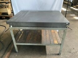36 X 48 X 6 Black Granite Surface Plate 2-ledge With Stand.