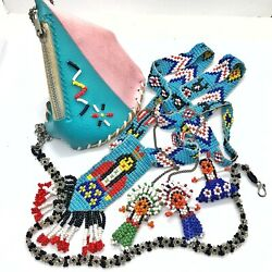 Vintage Western Themed Native American Made Jewelry And Collectibles Old Indians