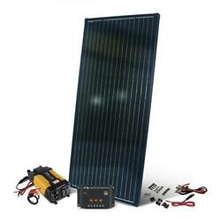 200w Complete Solar Panel Kit With 12-volt Charge Controller And 400-watt Inverter