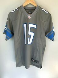 Nike Nfl Youth Golden Tate Iii 15 Detroit Lions Tcf Silver Gray Jersey Large L