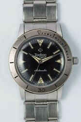 Zodiac Sea Wolf 702-916 Black Matte Dial Auto Vintage Watch 1960and039s Overhauled
