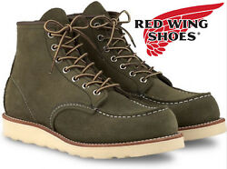 New Red Wing 8857 Loden Abilene Suede Usa Mens 11.5 D Leather Shoes Moc Toe