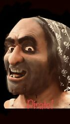 Pirates Of The Caribbean Pirate Head Prop Disneyland D23 Haunted Mansion