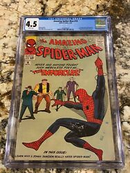 Amazing Spider-man 10 Cgc 4.5 Rare White Pages 1st Big Man And Enforcers Mcu Key