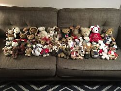 Huge Lot Of 60 Plush Boyds Bears Retired And Vintage Teddy Bears Most With Tags