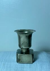 Antique Chinese Qing Paktong White Brass Opium War Tool Holder Dross Collector