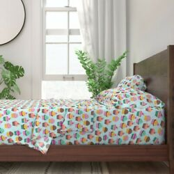Cupcake Hipster Kids Bakery Sweets 100 Cotton Sateen Sheet Set By Roostery